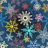 Multi-colored snowflakes Royalty Free Stock Image