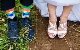 Multi-colored socks. Royalty Free Stock Image