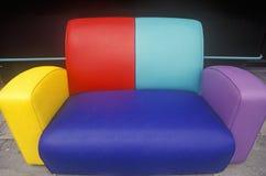 Multi colored sofa, Los Angeles, CA Stock Image