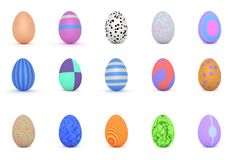 Multi colored special easter eggs sheet. royalty free illustration