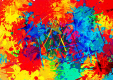 Multi Colored splatter background. illustration  design Royalty Free Stock Photography