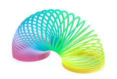 Multi-Colored Spring Toy Royalty Free Stock Images