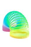 Multi-Colored Spring Toy Isolated on White Stock Photo