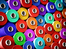 Multi colored stacked threads background. 3D illustration.  Stock Images