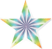 Multi-colored star Royalty Free Stock Photo
