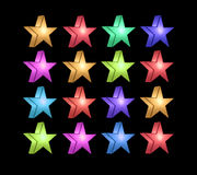 Multi-colored star Stock Photography