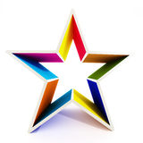 Multi colored star shape isolated on white background Royalty Free Stock Photography