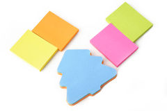 Multi colored sticky note pads Stock Photography