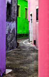 Multi-colored street in Europe Stock Image