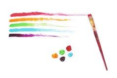 Multi-Colored Strepen van de Verf Stock Foto's