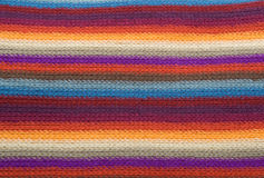 Multi-colored striped wool texture Stock Images