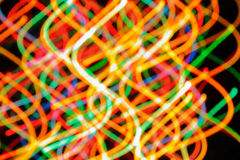 Multi-colored strips of light Stock Photography