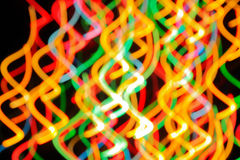 Multi-colored strips of light Royalty Free Stock Image
