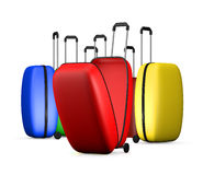 Multi-colored suitcases Stock Photo