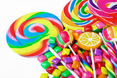 Multi-colored sweets and chewing gum Stock Images