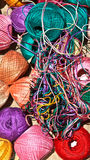 Multi-colored tangles of thread. Royalty Free Stock Images