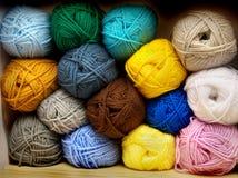 Multi-colored tangles of yarn Stock Photo