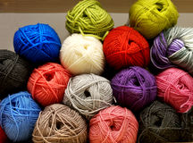 Multi-colored tangles of yarn Royalty Free Stock Photography