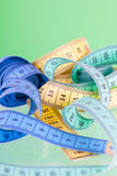 Multi-colored tape-line Royalty Free Stock Photo