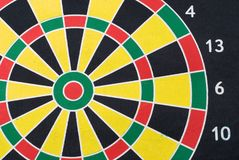 Multi-colored target for darts Stock Image
