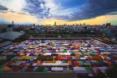 Multi-colored tents Stock Image