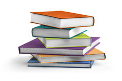Multi colored textbooks Royalty Free Stock Image
