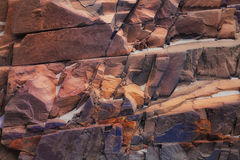 Multi-colored texture of natural stone Stock Photos