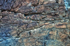 Multi-colored texture of natural stone Royalty Free Stock Photo