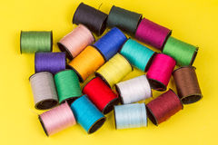 Multi-colored threads for embroidery Stock Images