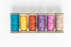 Multi-colored threads royalty free stock image