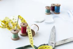 Multi-colored threads for sewing Royalty Free Stock Images