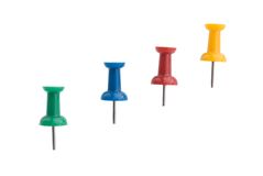 Multi Colored Thumbtacks Royalty Free Stock Photography