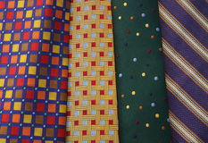 Multi-colored Ties Stock Images