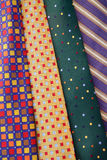 Multi-colored ties Stock Photos