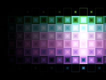 Multi colored tile background stock image