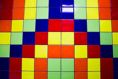 Multi-colored tiles for the background Stock Images