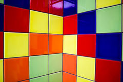 Multi-colored tiles for the background Royalty Free Stock Photos
