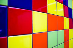 Multi-colored tiles for the background Royalty Free Stock Images