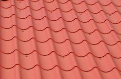 Multi-colored tiles on the roof. Royalty Free Stock Images