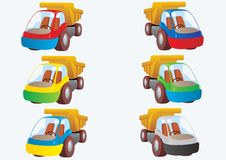 Multi-colored trucks Stock Photos