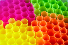 Multi-colored tubules for a cocktail Stock Image