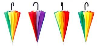 Multi-colored umbrella Stock Image