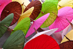 Multi-colored umbrella. Handicraft items made of paper Royalty Free Stock Photography