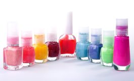 Multi-colored varnish Royalty Free Stock Photo