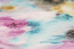 Multi-colored velor fabric selective focus. Stock Photography