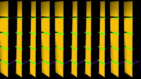 Multi Colored Vertical Rotating Pillar Loop stock footage