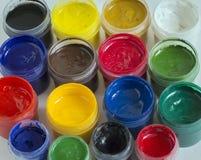 Multi-colored verven voor tekeningsbeelden Royalty-vrije Stock Foto's