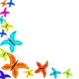 Multi-colored vlinders Stock Afbeelding