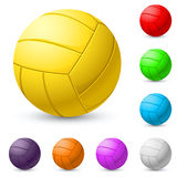 Multi-colored volleyball realiste Royalty Free Stock Photos