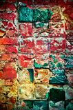 Multi-colored wall Royalty Free Stock Images